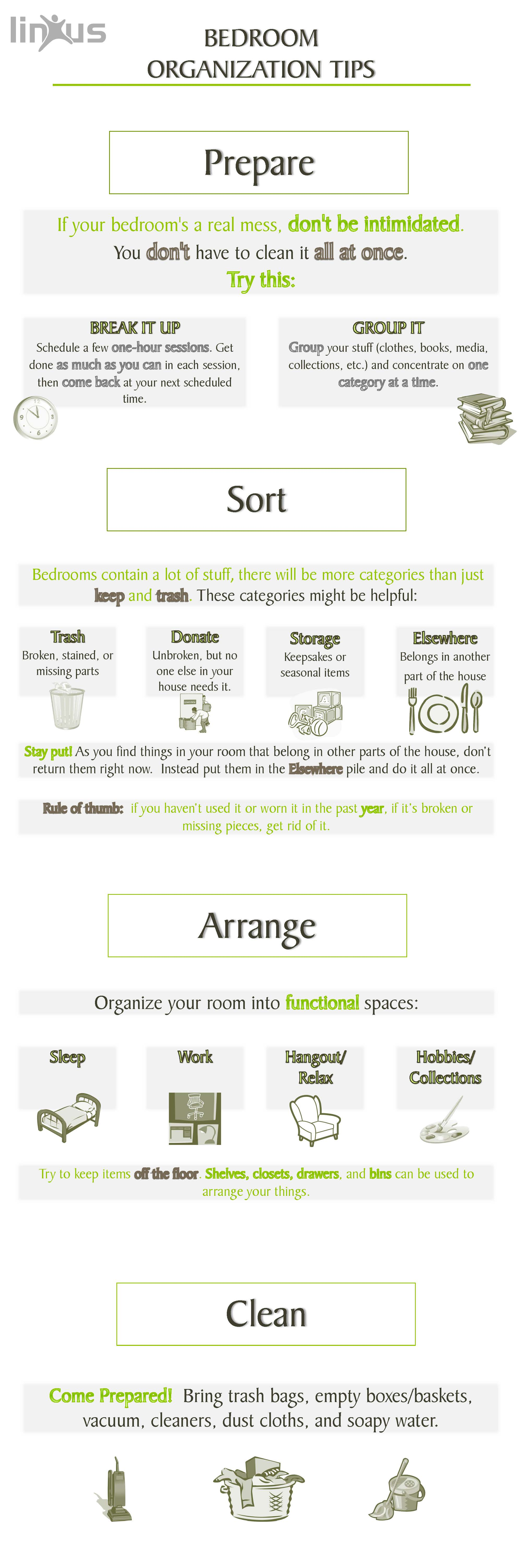 Bedroom Organization Tips_infographic