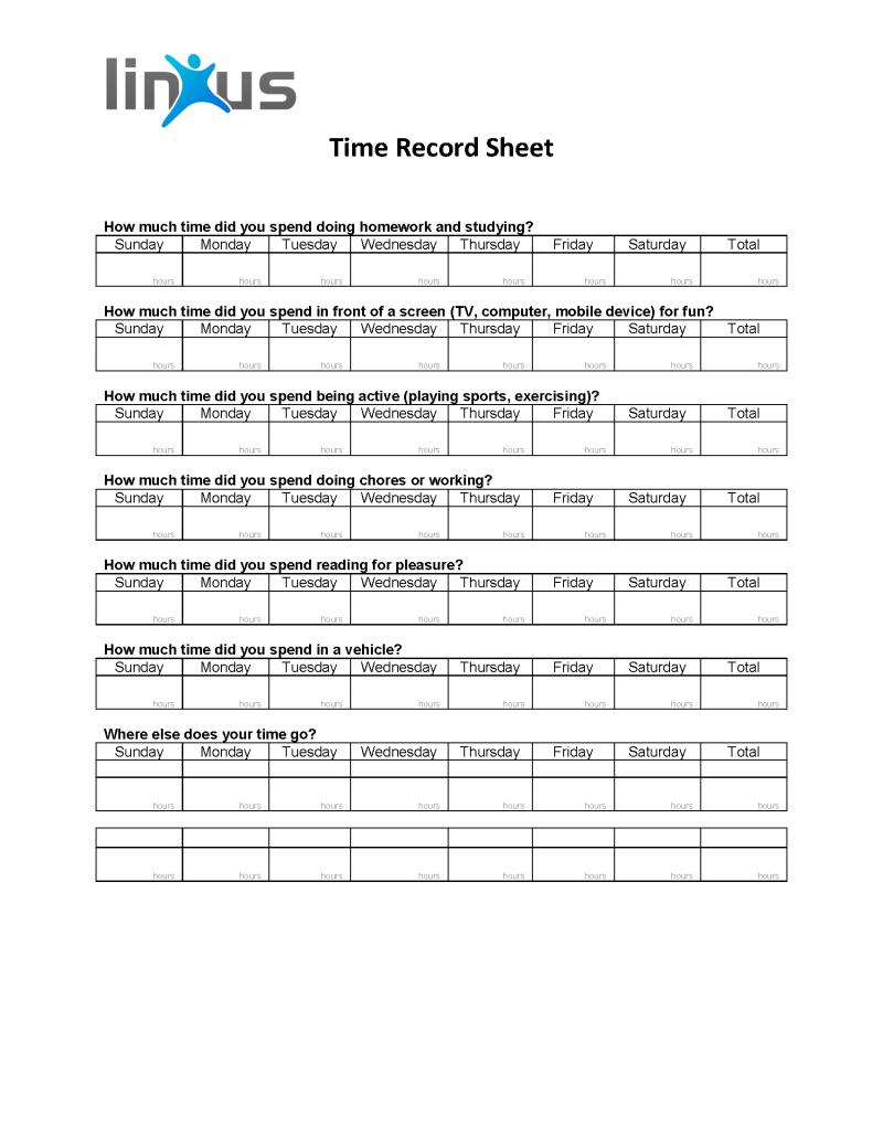 Time Record Sheet